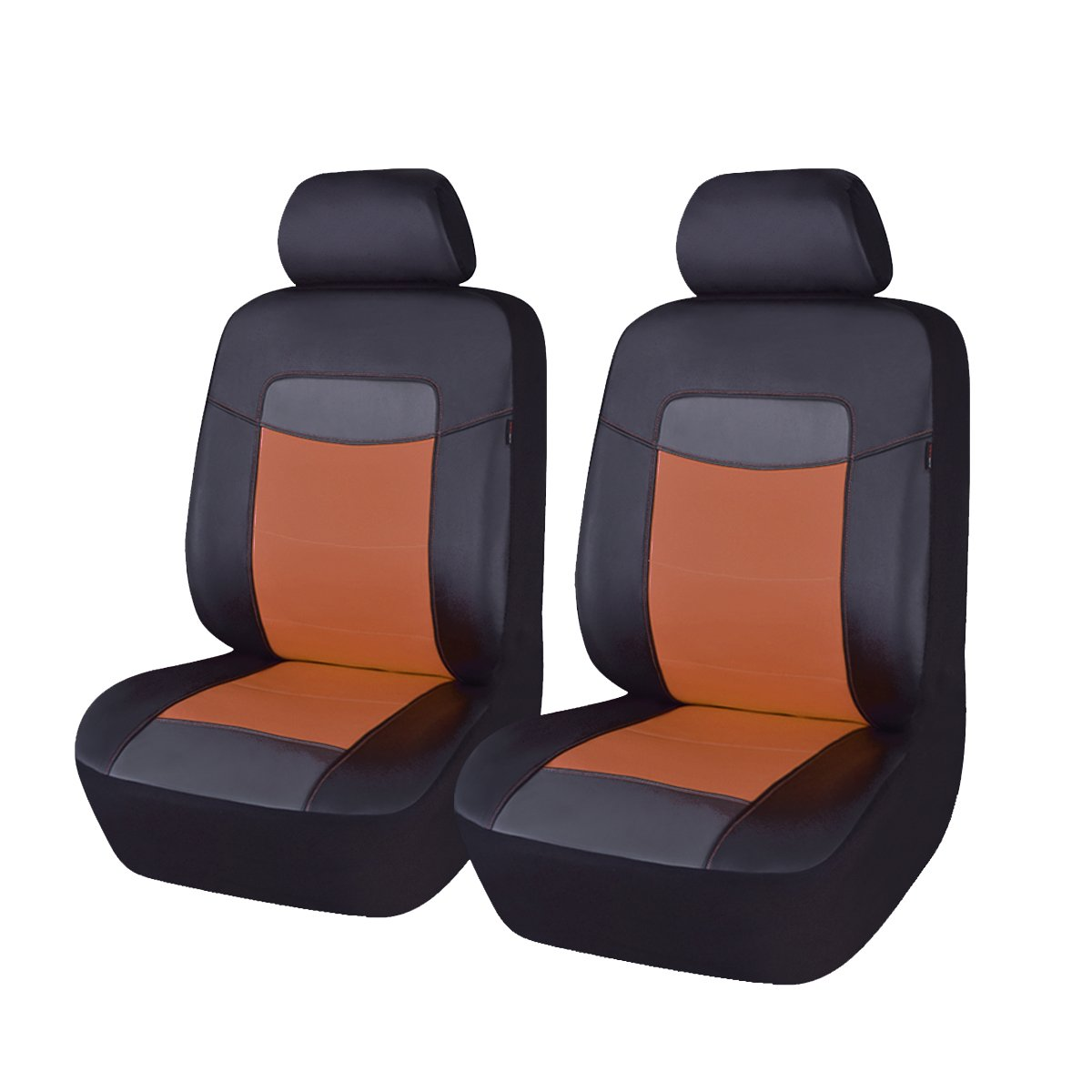 11pcs Flying Banner PU-Leder Autositzbez/üge Universal Design mit Seitenairbag geeignet Vollst/ändige Reihe , Schwarz