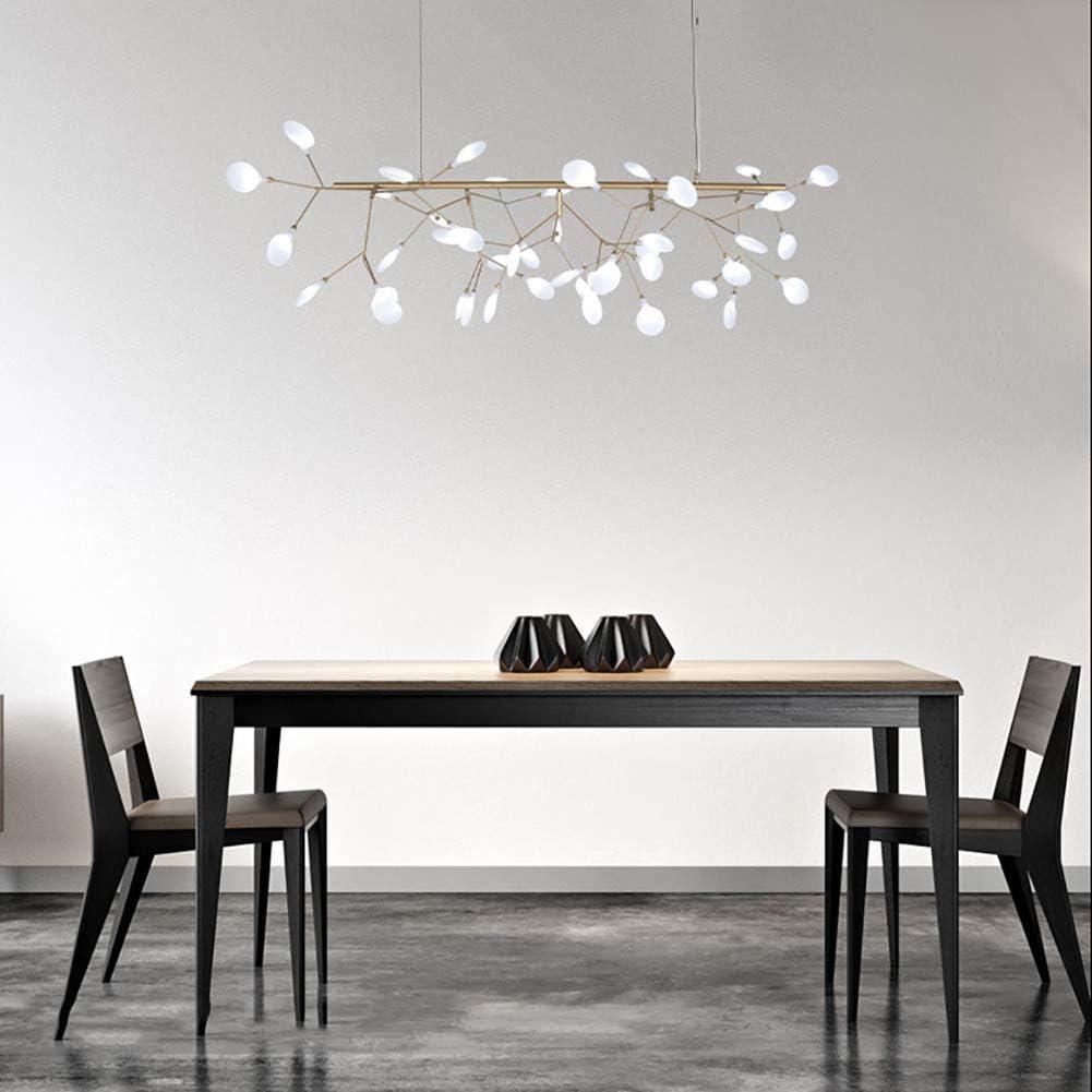 HLJ Chandelier Post-Modern Firefly Restaurant Rectangular LED Fixtures Nordic Style Bedroom Living Room Chandelier 110-240V chandelier
