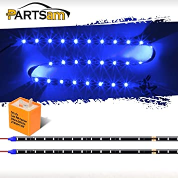 8x Waterproof 30cm 3528 Flexible SMD Blue LED Light Strips Universal Fit