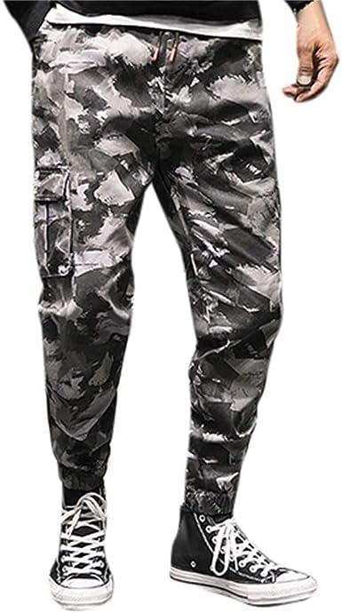 VPASS Pantalones Hombre, Chándal de Hombres Camuflaje Impresión ...