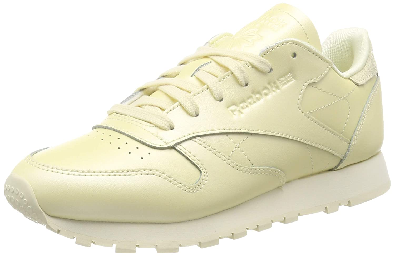 Reebok EU|Jaune Cl LTHR, Chaussures de Gymnastique Femme 40.5 EU|Jaune Reebok (Mid/Washed Yellow 000) 9cd47b
