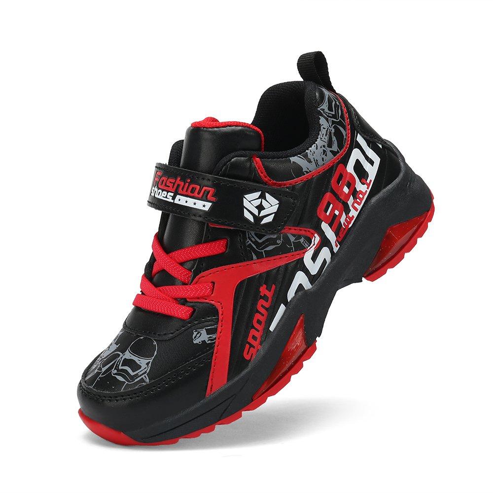 Feetmat Kids Sneakers Waterproof Outdoor Hiking Athletic Running Shoes Black