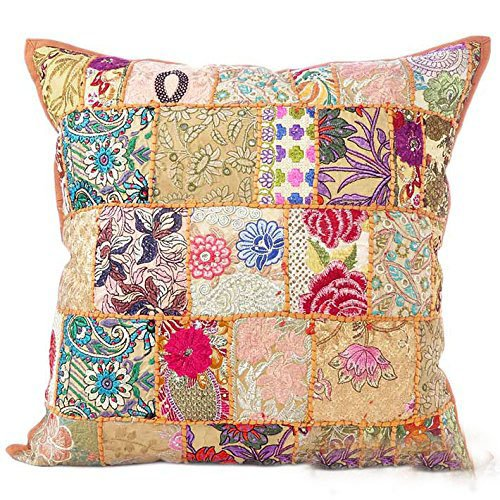 India Patchwork Art (Indian Decorative Cushion Cover 24x24