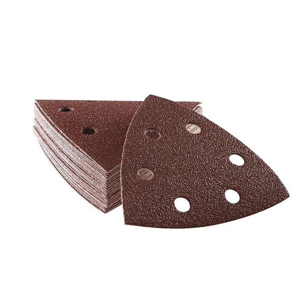 MagiDeal 50 Piece Sanding Sheets Discs Triangle Sander Grinder Paper Pads Dark Red 60 Grit