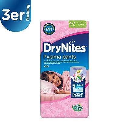 Pañal dry nites niña 4/7 10u (Pack de 3)