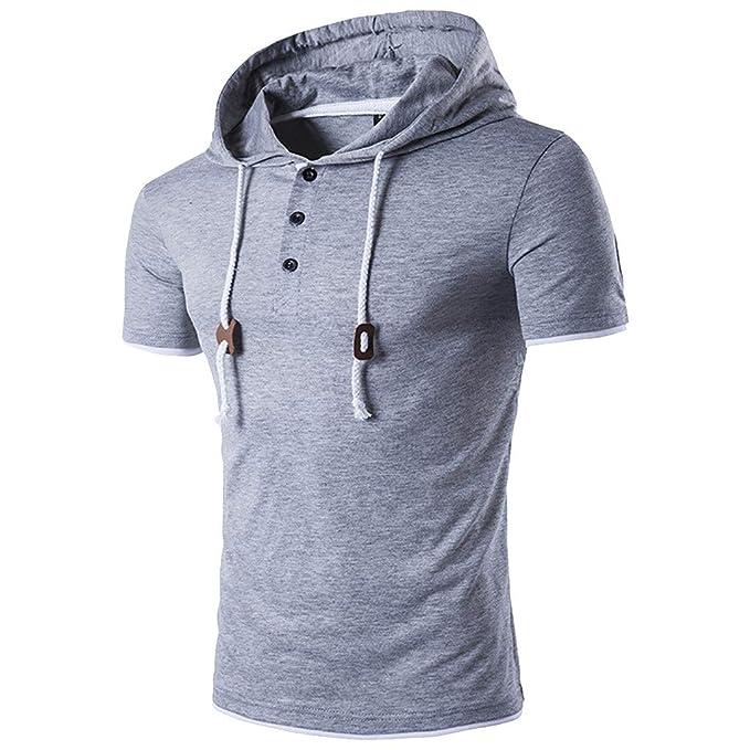 MVPKK Camisetas para Hombre, Camisetas de Manga Corta Hombre Camisetas con Capucha Camisas de Algodón