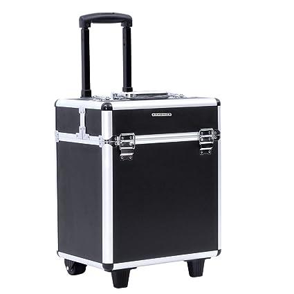 Songmics® beauty case maleta multiusos tipo trolley Maletín para maquillaje Estuche de maquillaje JHZ12B