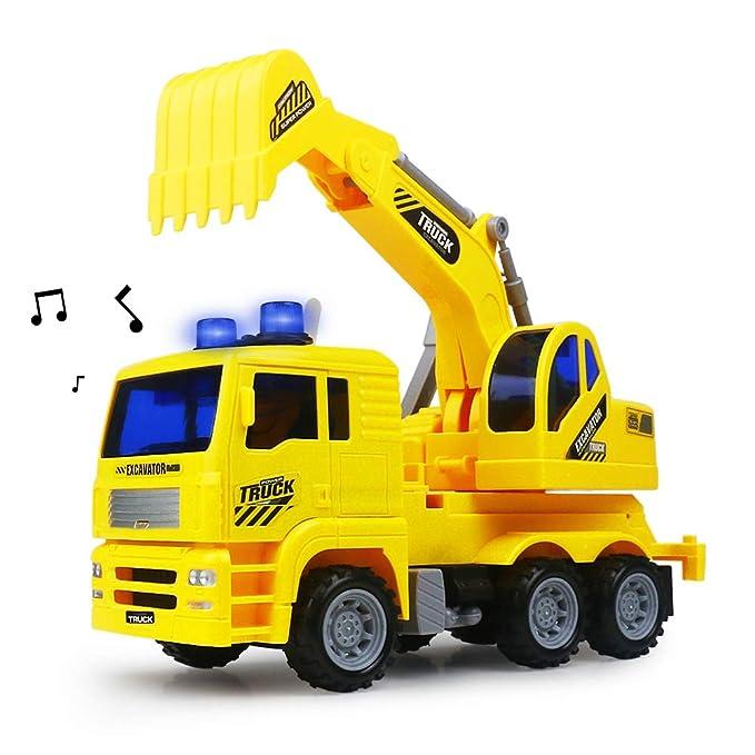 Excavador Cavador Juguetes de Ingenieria Construcción Vehículos Modelos de Autos Camiones con Luces y Musica para Niños Niñas 3 4 5: Amazon.es: Juguetes y ...