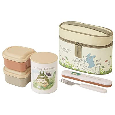Skater heat insulation lunch box 560ml My Neighbor Totoro watercolor Studio Ghibli KCLJC6: Toys & Games