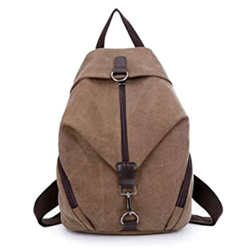 689d2c49762e Amazon.com: Women Canvas Backpack Preppy College Student Fabric ...