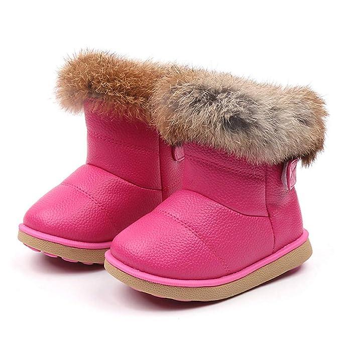 Amazon.com: Matoen - Botas de piel, calientes, para niños ...