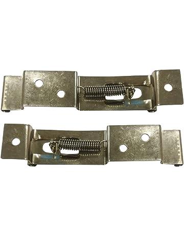 2 clips o soportes para matrícula de remolque, abrazaderas para matrícula, resorte de acero