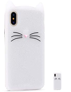 coque iphone x chat 3d