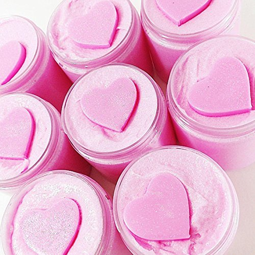 Sugar Scrub Soap. Pink Sugar Whipped Body Scrub best friend gift for women handmade by Sunbasil Soap (Sugar Handmade Whipped)