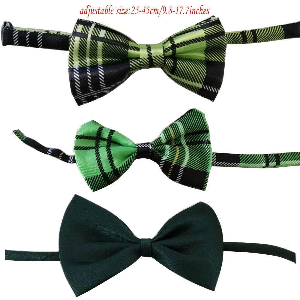 Bow ties,50pcs FidgetGear Pet Dog Accessories Dog Hair Bows Dog Cat Bow Ties Large Ties Solid and Polka dots Bow Ties 100pcs