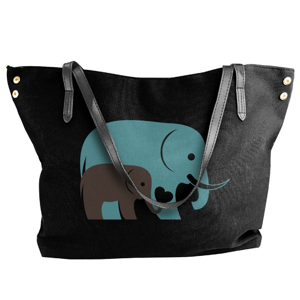 BlackRed Baby Elephant Women's Modern Black Shoulder Bag