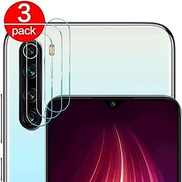 3 Pack] Cristal Templado para Lente Cámara de Xiaomi Redmi Note 8 ...