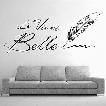 Sticker Mural Citation Lettresla Vie Est Belle Stickers