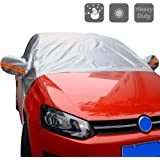 """Windshield Cover for Car - All Weather Universal Half Car Sun Shade Covers Windproof/Dustproof/Scratch Resistant Outdoor UV Protection Vehicle Front Window Cover Fits Sedan (55"""" W x 93"""" L)"""