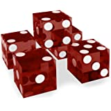 Brybelly Casino Grade AAA 19mm Dice - Razor Sharp Edges & Matching Serialized Numbers - 6 Sided Game Pieces in Bulk for RPG,