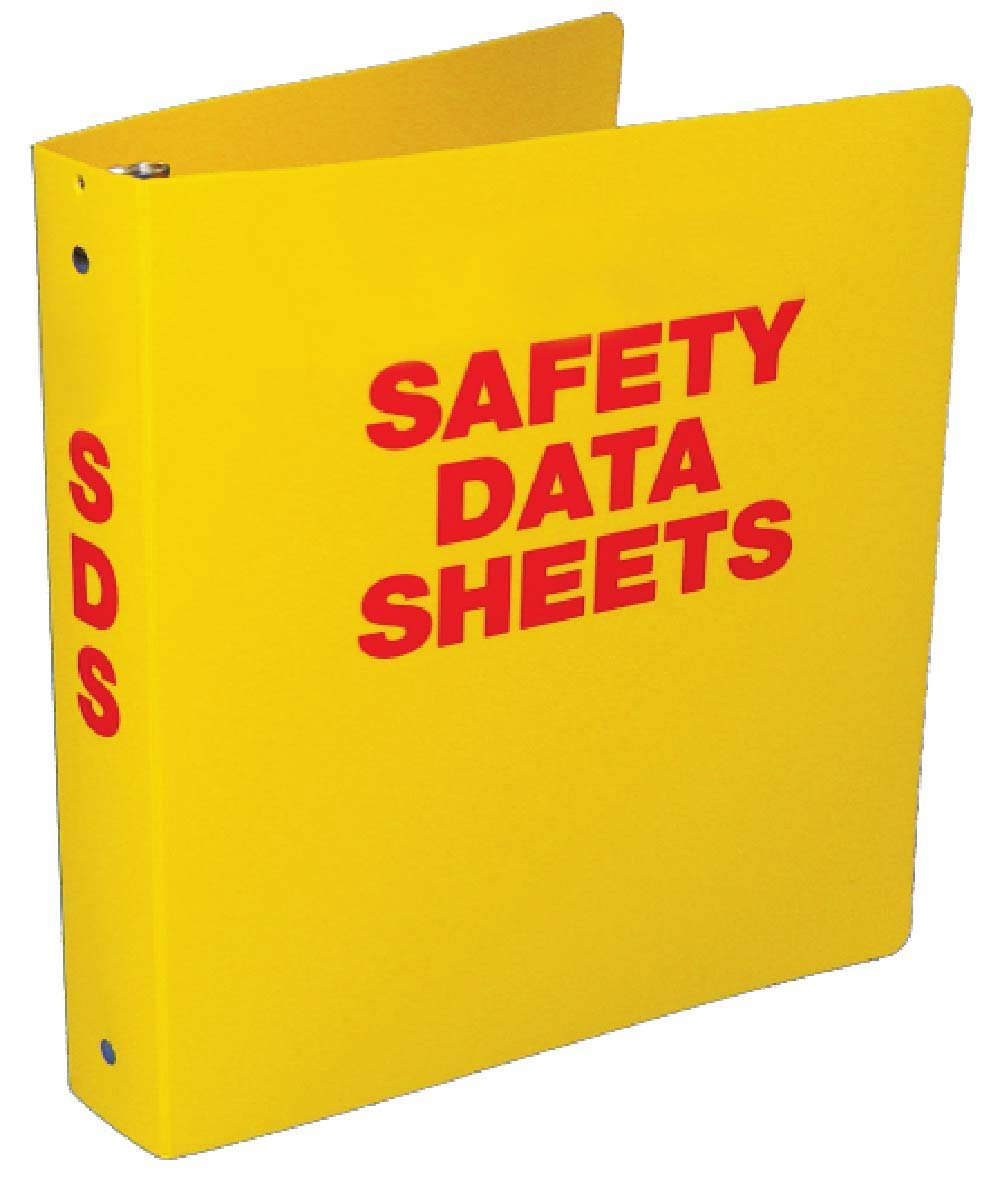 National Marker Corp. RTK62C Safety Data Sheet Binder Yellow 2 Inch With Chain