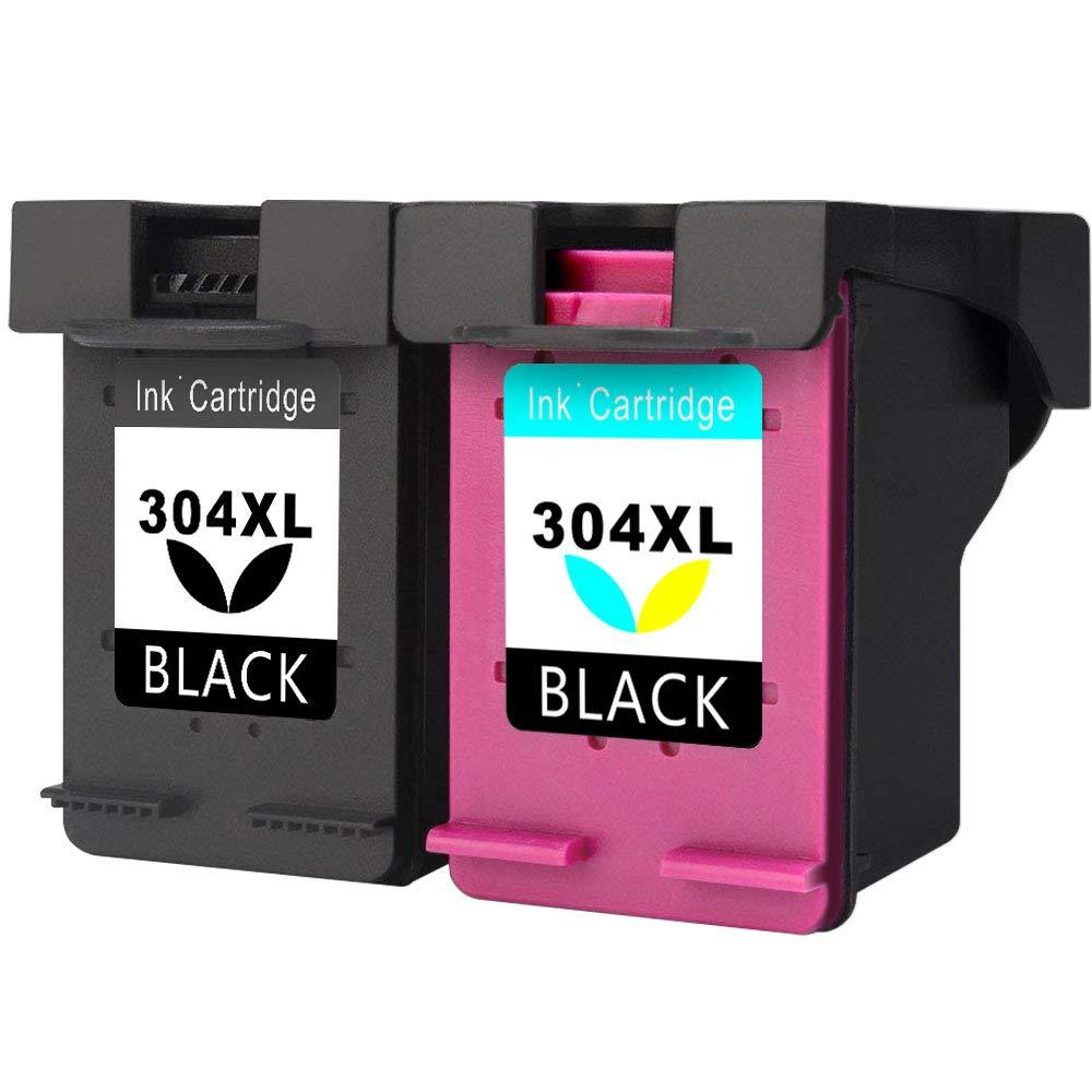 Asonway Remanufacturado HP 304 304XL Cartuchos de Tinta(1 Negro,1 Tricolor) Compatiable con HP Deskjet 3720 3730 3735 2620 2630 3732, HP Envy 5020 ...