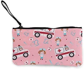 naotaori Monedero de Lona Rosa para Mujer Ambulancia Mini Cambio Monedero Monedero Tarjetero Monedero para teléfono Estuche para lápices Mochilas Ocasionales: Amazon.es: Equipaje