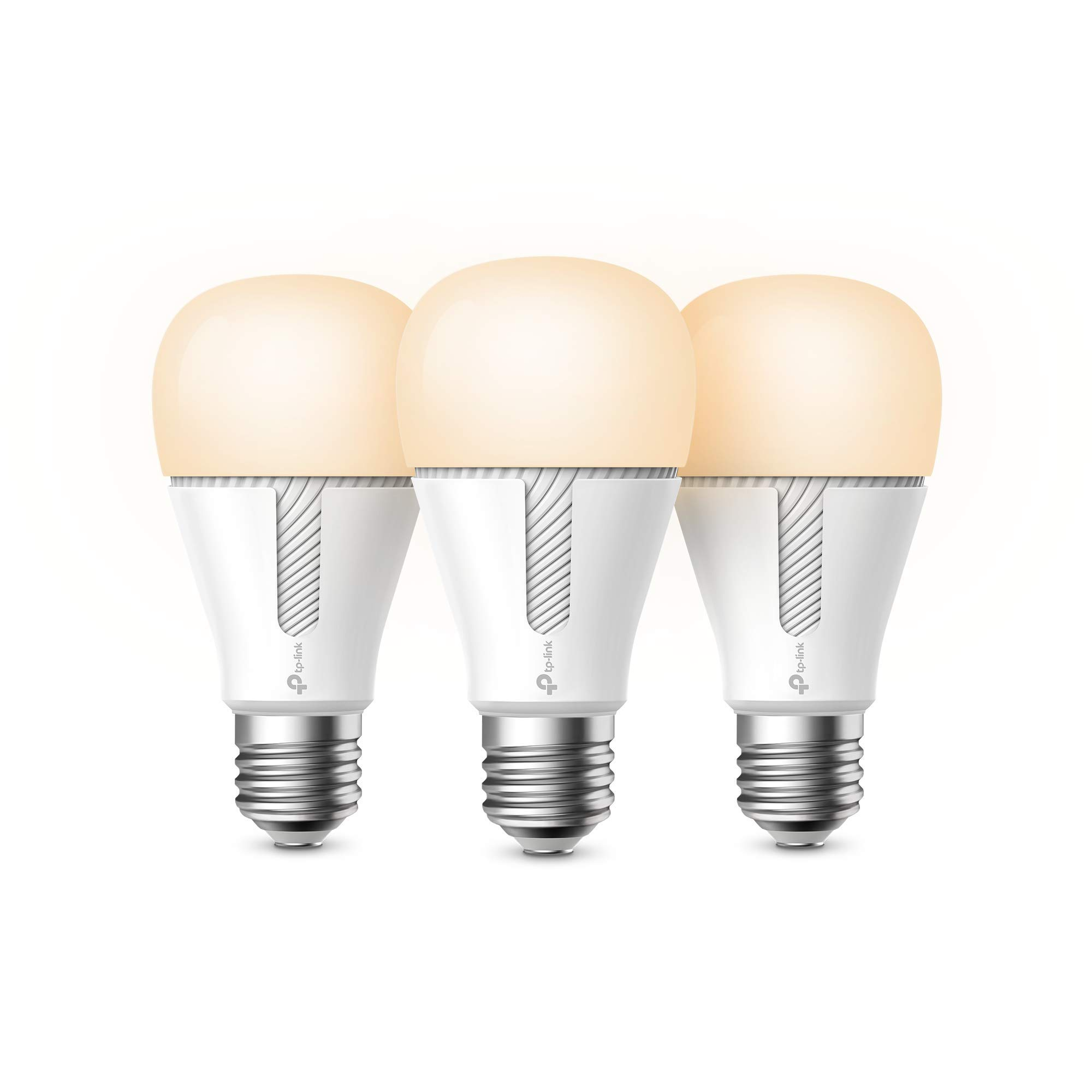 Kasa Smart WiFi Light Bulbs (3-pack), Dimmable by TP-Link - No Hub Required, Works with Alexa & Google (KL110P3)