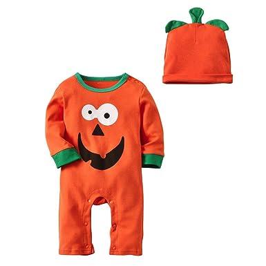 MAYOGO Halloween Traje Bebe Niño Calabaza Conjunto Ropa Bebe ...