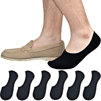 Jormatt Mens Truly No Show Socks With Non Slip Grips,Cotton Low Cut Socks for Loafer Sneakers Boat Shoes
