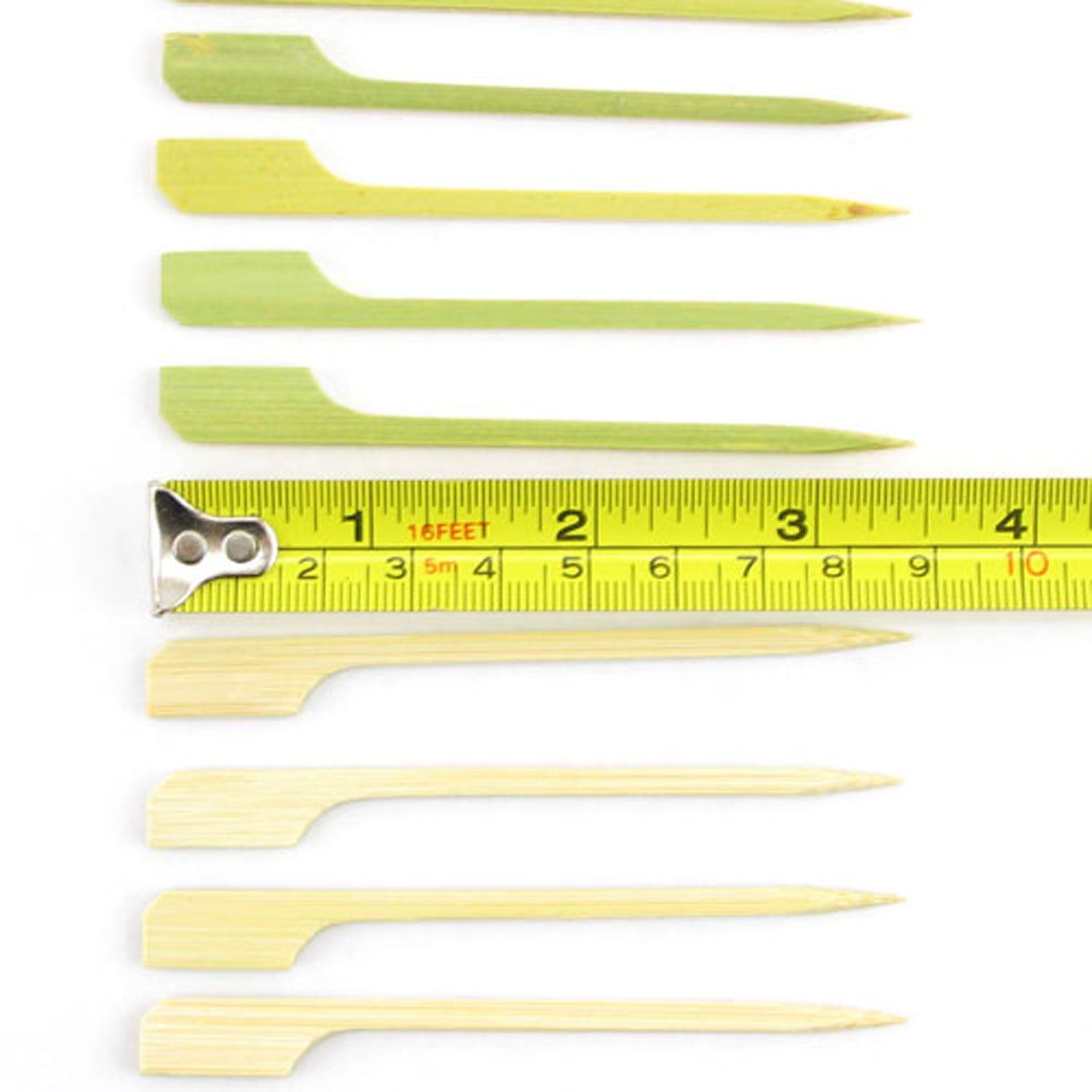 BambooMN 3.5'' Bamboo Paddle Cocktail Fruit Sandwich Food Picks Skewers for Catered Events, Holiday's, Restaurants or Buffets Party Supplies, 1000 Pieces