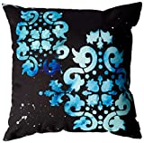 Deny Designs Madart Modern Dance Mysterious Throw Pillow, 16-Inch by 16-Inch