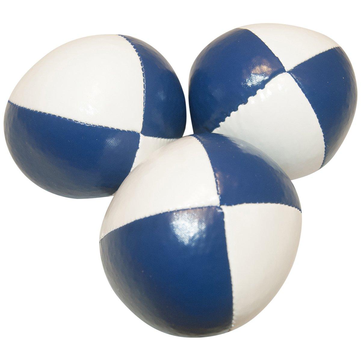 Juggling Balls Set of 3 Professional Style (white/blue)