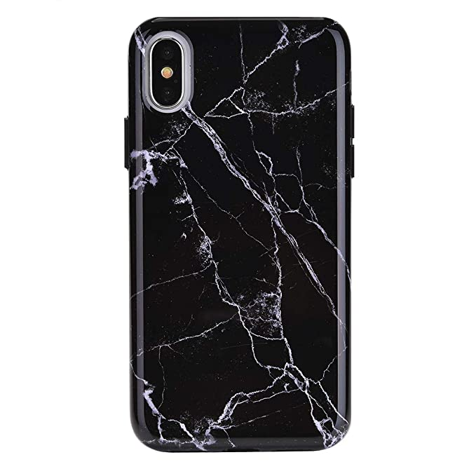 Amazon.com  Black Marble iPhone Xs Max Case - Premium Protective ... 953714b099