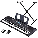 Yamaha PSR-EW310 76-key Portable Keyboard Bundle with Stand and Power Supply