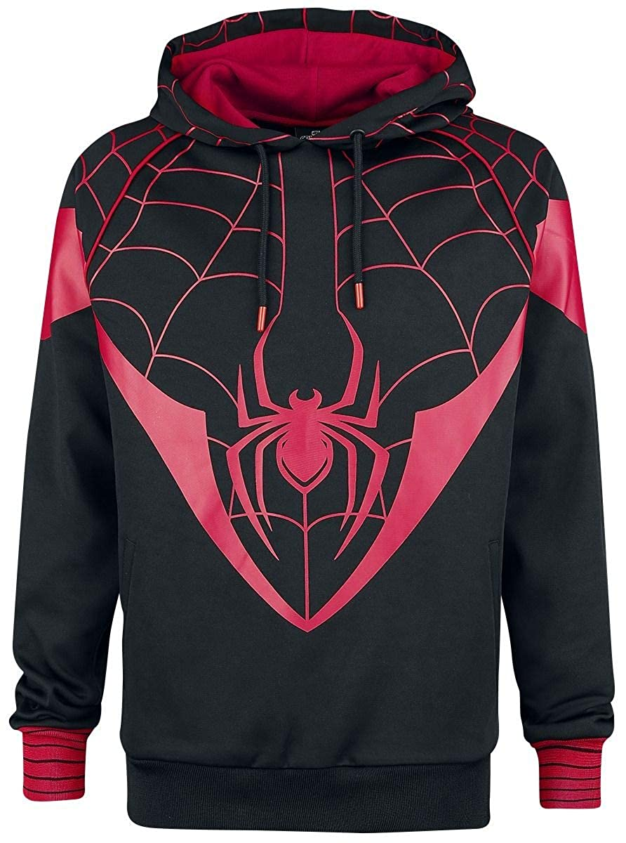 TALLA XXL. Spiderman Official Miles Morales Hoodie