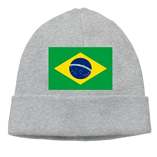 SESY Flag of Brazil Beanies Knitted Caps Skull Hats Unisex Soft ... adabd35ca7e