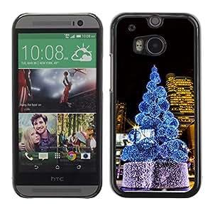 YOYO Slim PC / Aluminium Case Cover Armor Shell Portection //Christmas Holiday Tree Midtown 1303 //HTC One M8