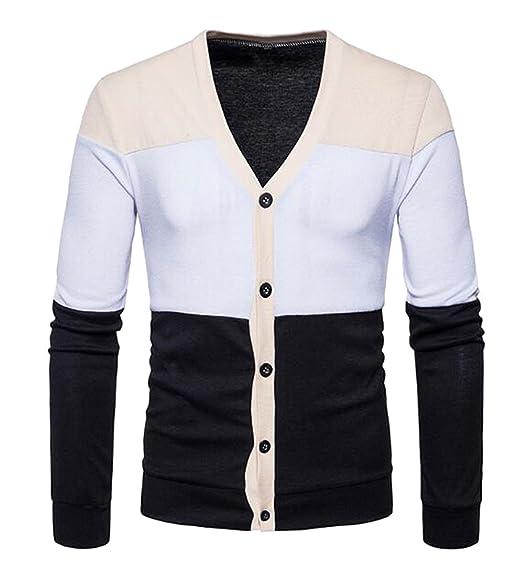 ARRIVE GUIDE Mens Lightweight Button Up Soft Knit V Neck Cardigan ...