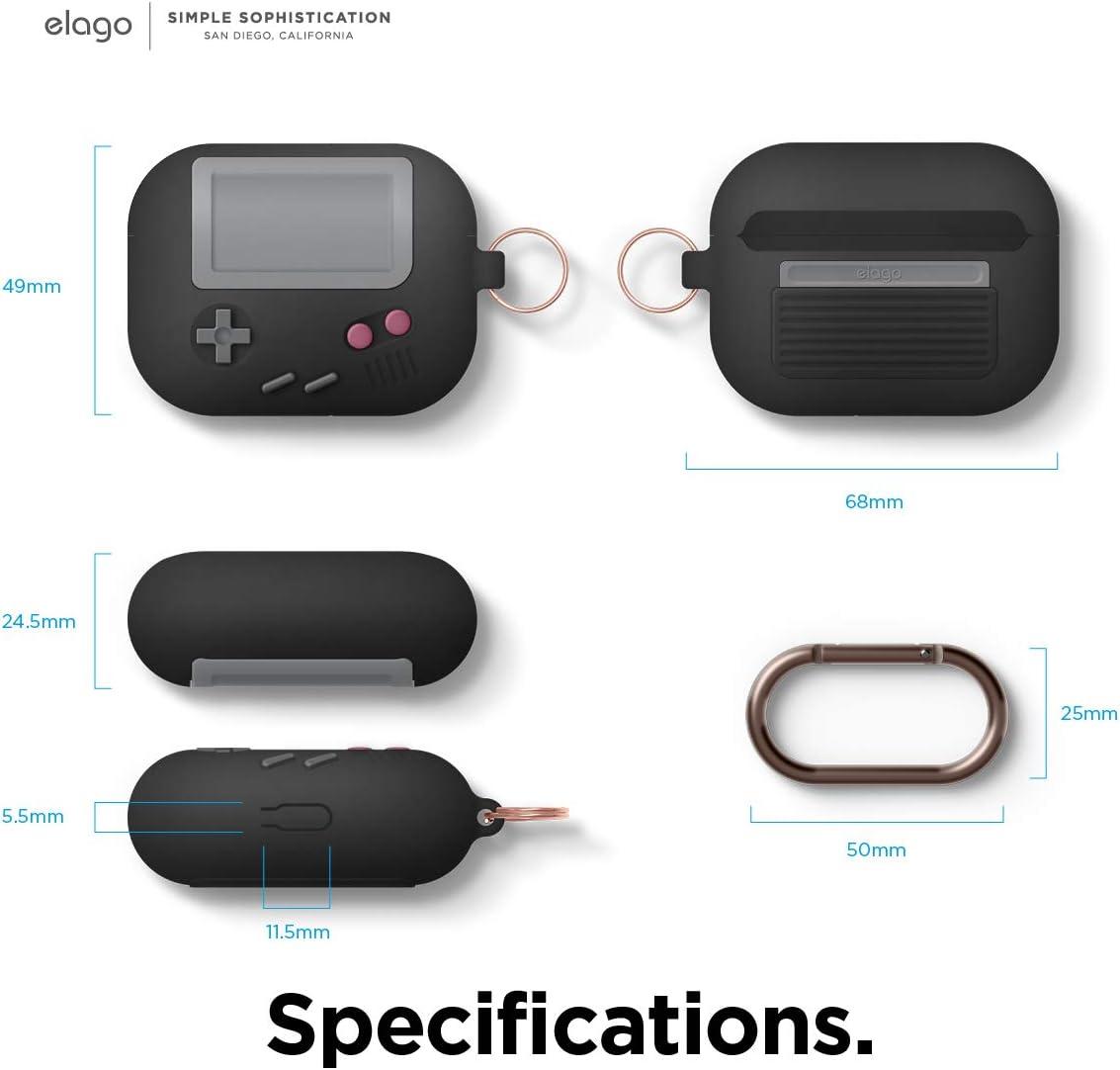 Gris Claro elago Funda AW5 Dise/ño Cl/ásico Game Player Dise/ñado para AirPods Pro Funda Pendiente Patente US