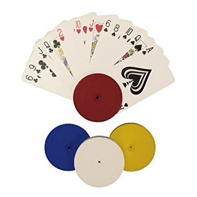 4 Piece Round Card Holders in Red, White, Yellow & Blue, Multi: Sports & Outdoors