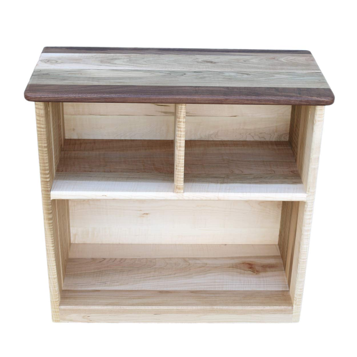 online store 88223 c6b4b Camden Rose Simple Bookcase, Maple with Walnut Accents, Two Shelves