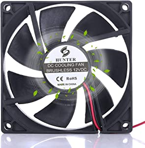 92mm x 25mm 2.16Watt 12VDC Dual Ball High Performance Cooling Fan for Humidifier Refrigerator Wine Cabinet Cooler