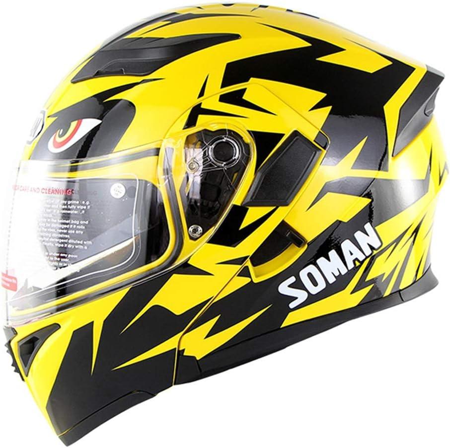 Downhill Fullface Motorrad Helm Erwachsene Hochklappen Sturzhelm Scooter Doppelvisier F/ür Damen Herren OD-B Motorradhelm Cross Integralhelm Klapphelm DOT