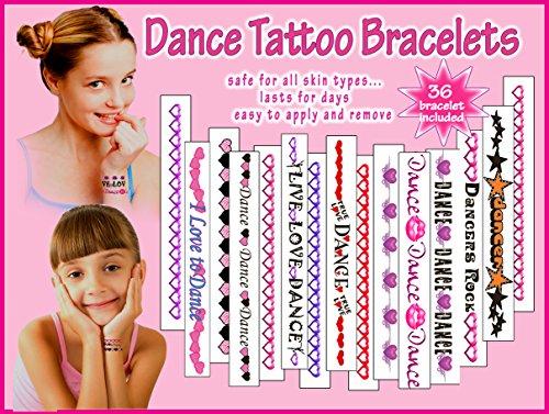 Dance Temporary Tattoo Bracelets