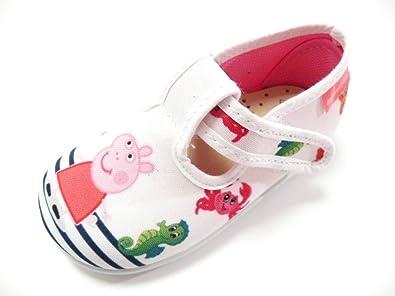 DIAMANTINO Shoe Slipper Canvas Peppa Pig Female White White