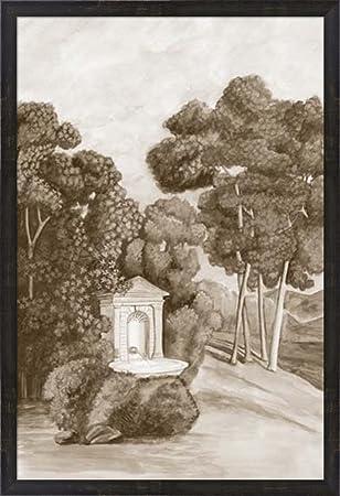 Amazon.com: Sepia French Wall Paper I by Naomi McCavitt Framed Art ...