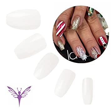 Amazon.com : Ejiubas 500 pcs Coffin Fake Nails Natural Color Full ...