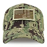 Trendy Apparel Shop Youth Military Camo Combat American Flag Patch Tactical Cap - NWU Camo