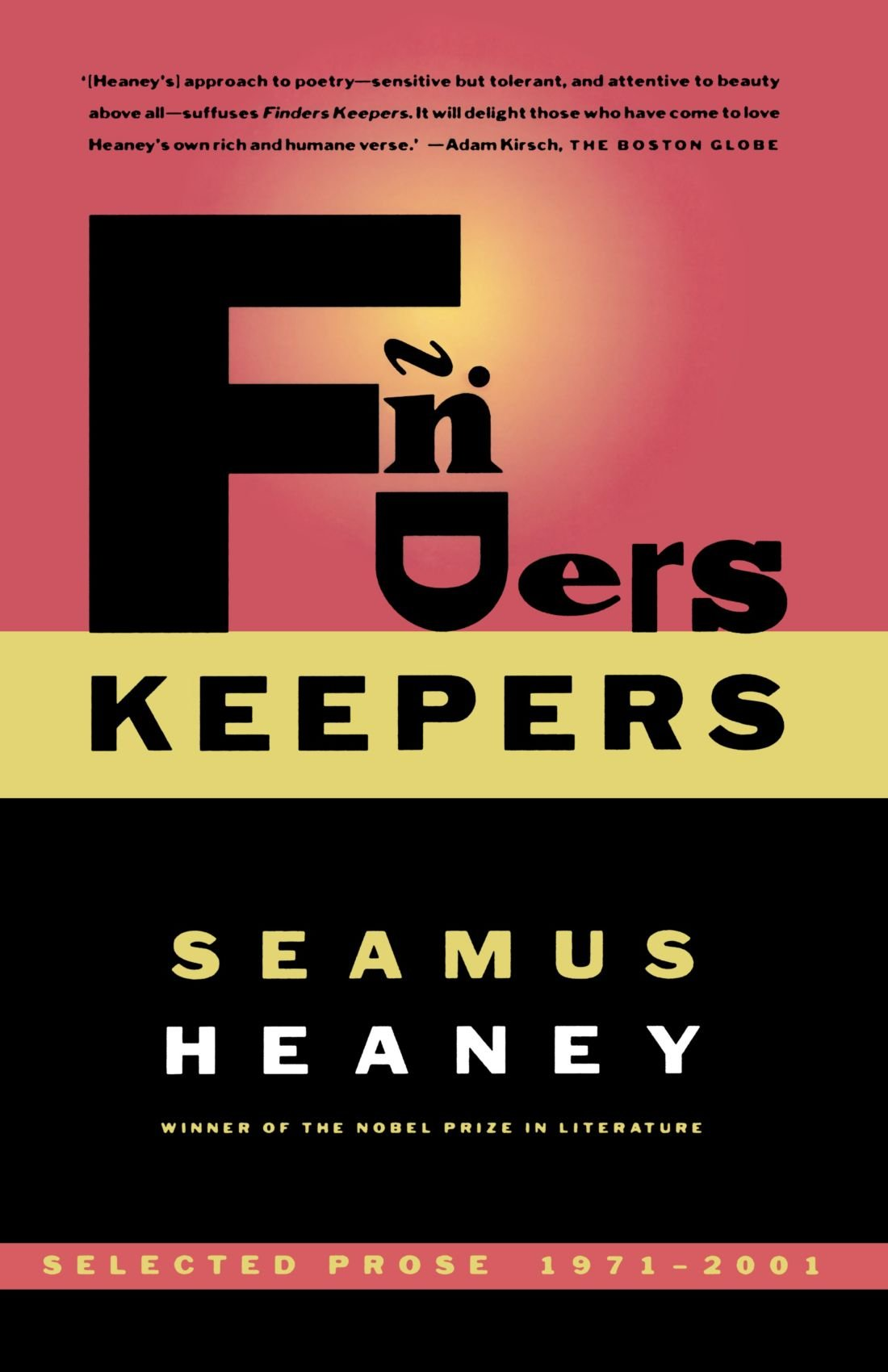 seamus heaney essays seamus heaney an advancement of learning  com finders keepers selected prose com finders keepers selected prose 1971 2001 9780374528782 seamus heaney books
